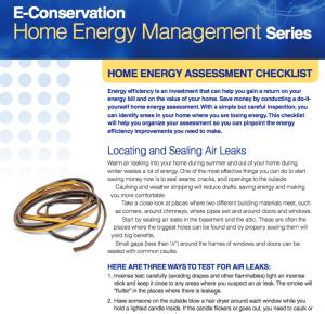 Home Energy Assessment checklist image