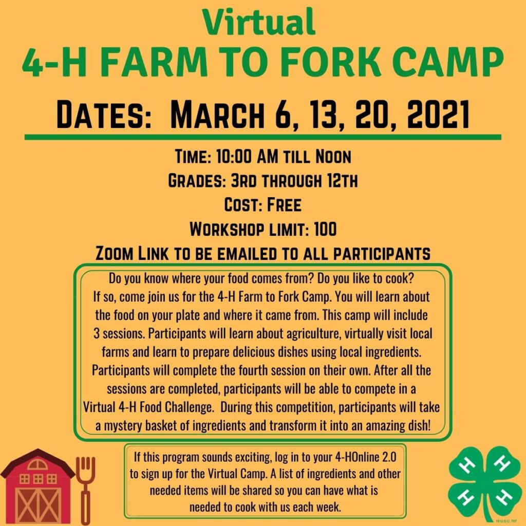 Picture of 4-H Farm to Fork advertisement